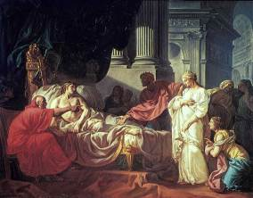 Erasistratos discovers the illness of Antiochus, son of the King of Syria