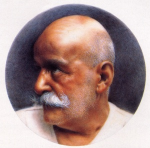 """All words are lies:"" (possibly George I. Gurdjieff, depicted here)"