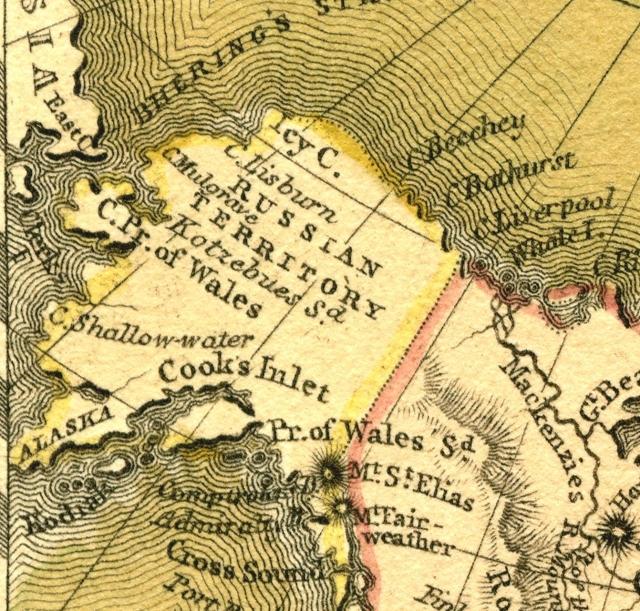Old N.A. Map-Alaska area